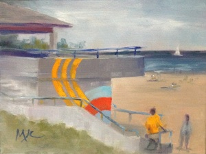 North Beach House Sheboygan 11x14 oil on canvas