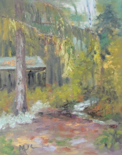 In the Woods 2013 10x8 oil on canvas