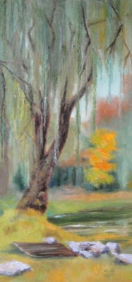Willow in the Fall 2013 24x12 oil on canvas